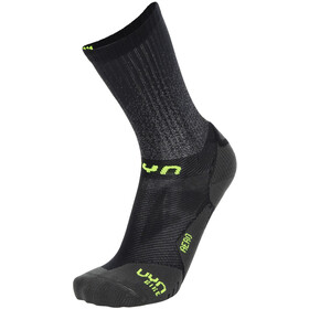 UYN Aero Cycling Socks Men black/lime